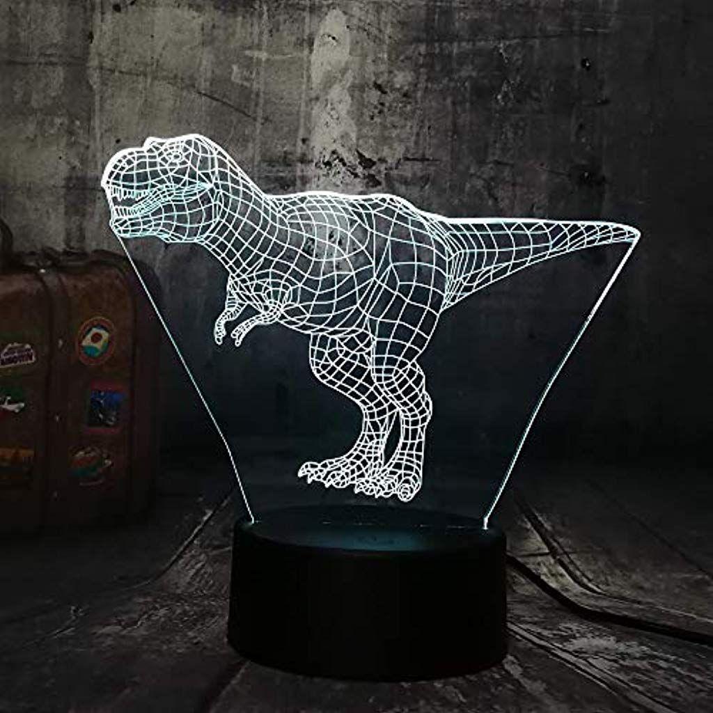 3d Nachtlicht Nachtlampe Illusionslicht Schlafzimmer Nachttischbeleuchtung Dinosaurier Tier Schreibtisch Hauptdekro Kinderwe Nachtlicht Nachtlampen Beleuchtung