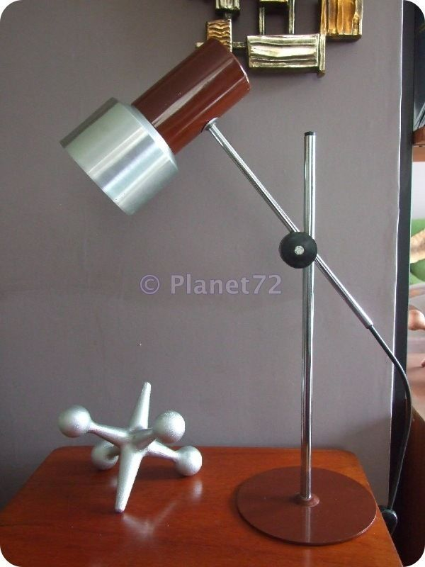 Retro Vintage 60s 70s Bhs Prova Italian Adjustable Desk Lamp Brown