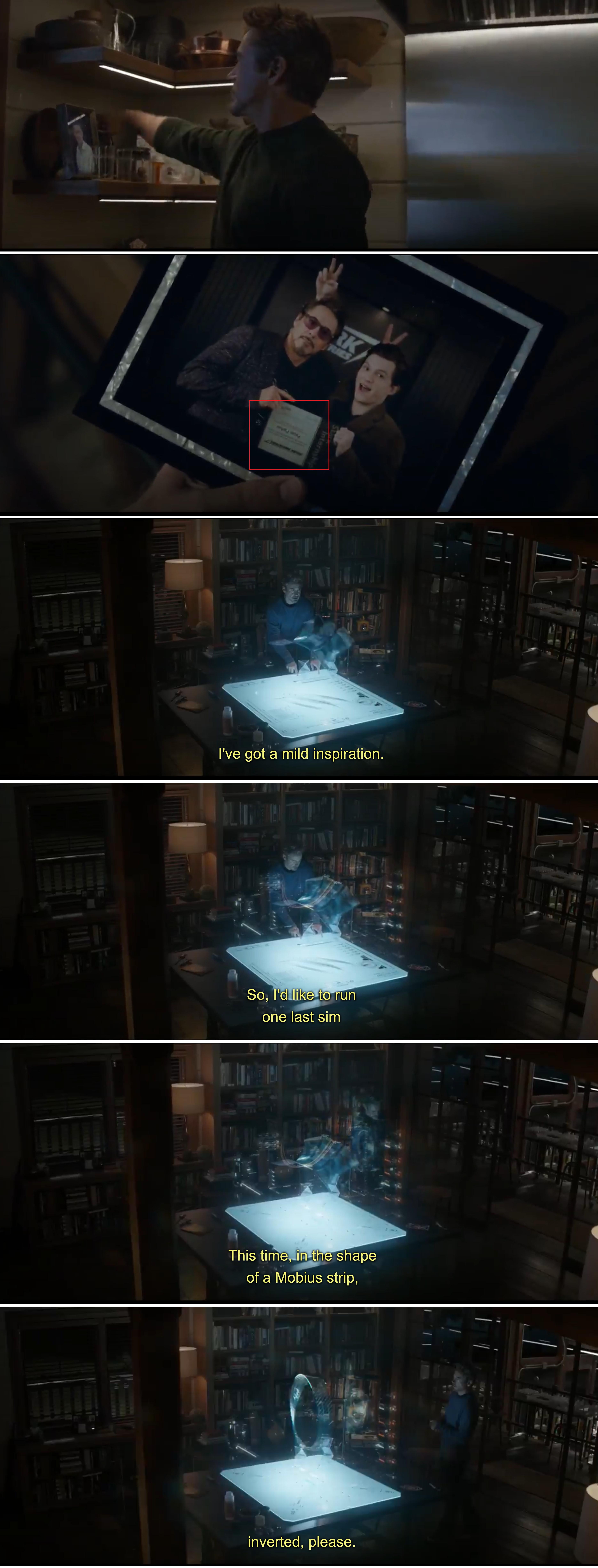 In Avengers Endgame (2019) Tony Stark cracks the time