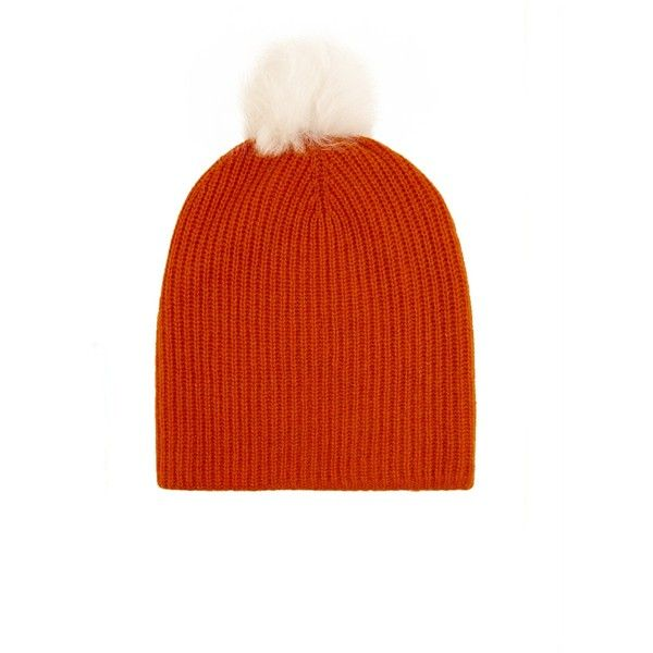 cf38e38bb83 Rag   Bone Cynthia fur-pompom cashmere-blend beanie hat ( 175 ...
