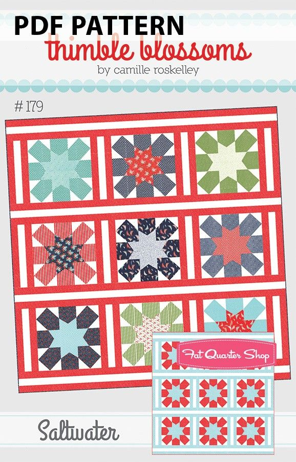 Quilt Pattern ~ STITCHED WITH LOVE ~ by Thimble Blossoms