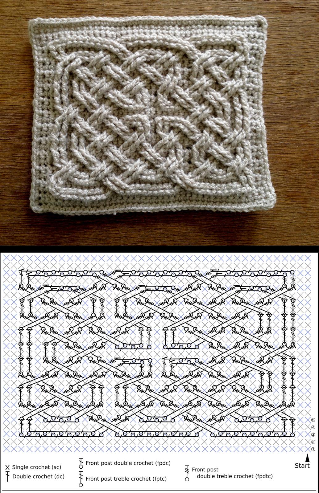 Crochetcetera e tal: Ponto com efeito 3D! | crochet | Pinterest ...