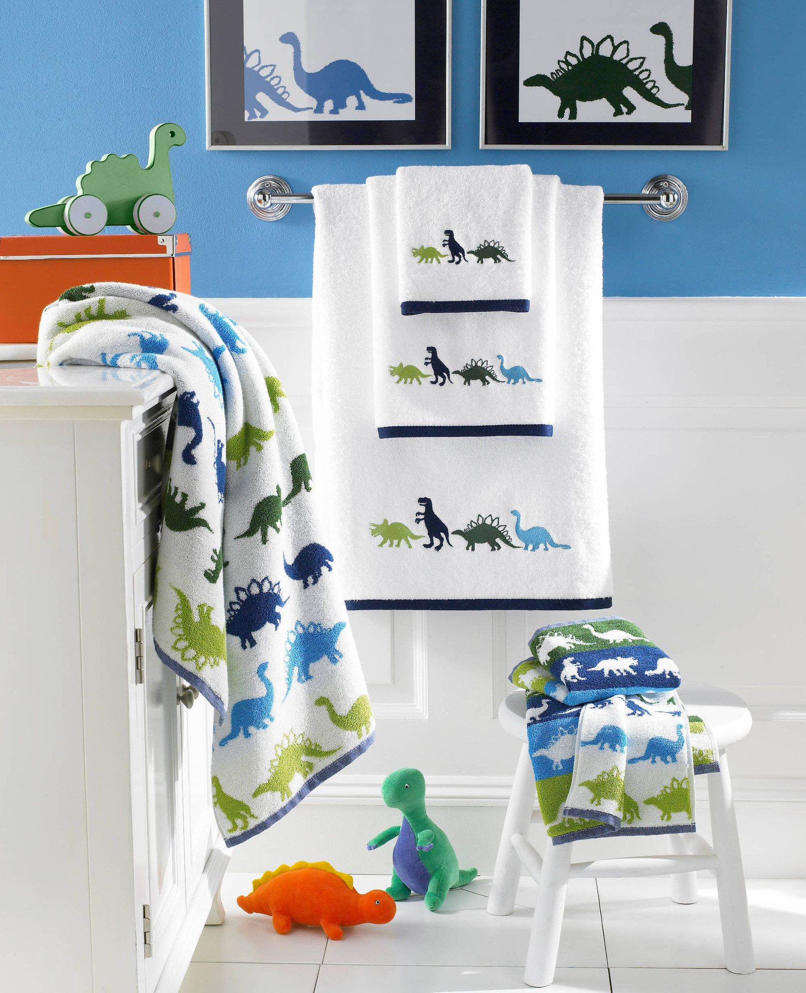 Dino Embroidered Towel Set For Kids Indulgeville Baby