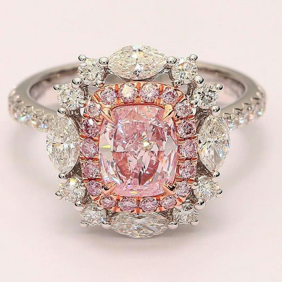 the__bijoux. Fancy pink diamonds ring #the_bijoux #chic #solitaire ...