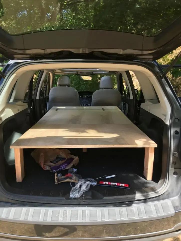 Suv Sleeping Platform Camper Conversion For Subaru Forester Camper Conversion Subaru Forester Suv Camping