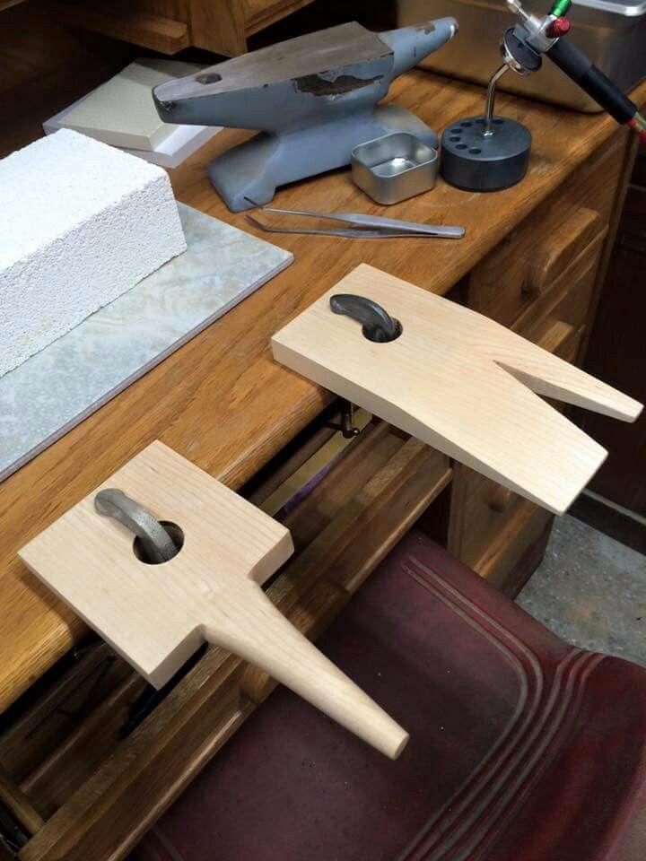 gina garcia hand made bench pins studio set up ideas