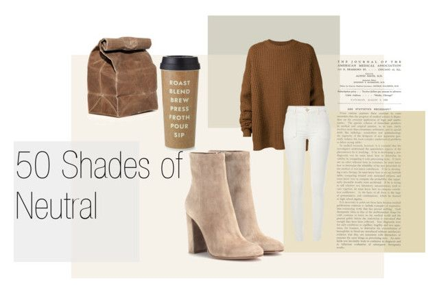"""""""50 Shades of Neutral"""" by andreaher on Polyvore featuring Kate Spade, Haider Ackermann, River Island and Gianvito Rossi"""