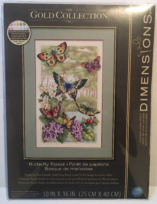 Dimensions 35223 Gold Collection Butterfly Forest Counted Cross Stitch
