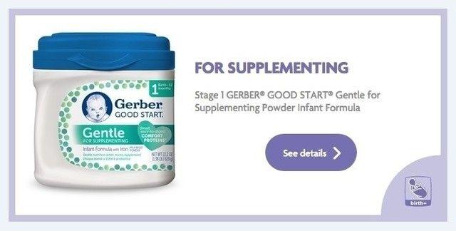 FOR SUPPLEMENTING  Stage 1 GERBER® GOOD START® Gentle for Supplementing Powder Infant Formula