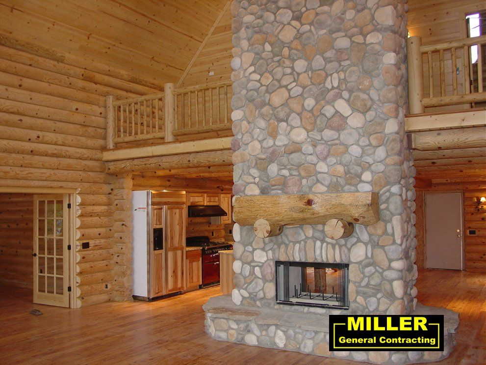 Amazing Log Home Fireplaces #10: Log Home Fireplaces   Log Home   Residential   Miller General Contracting