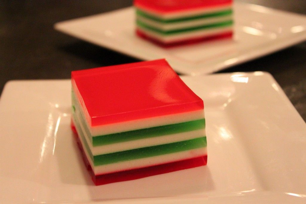 Christmas Ribbon Jello 1 3 Oz Package Lime Jello 1 3 Oz Package Raspberry Jello 1 3 O Sour Cream Recipes Ribbon Jello Recipe Fun Desserts