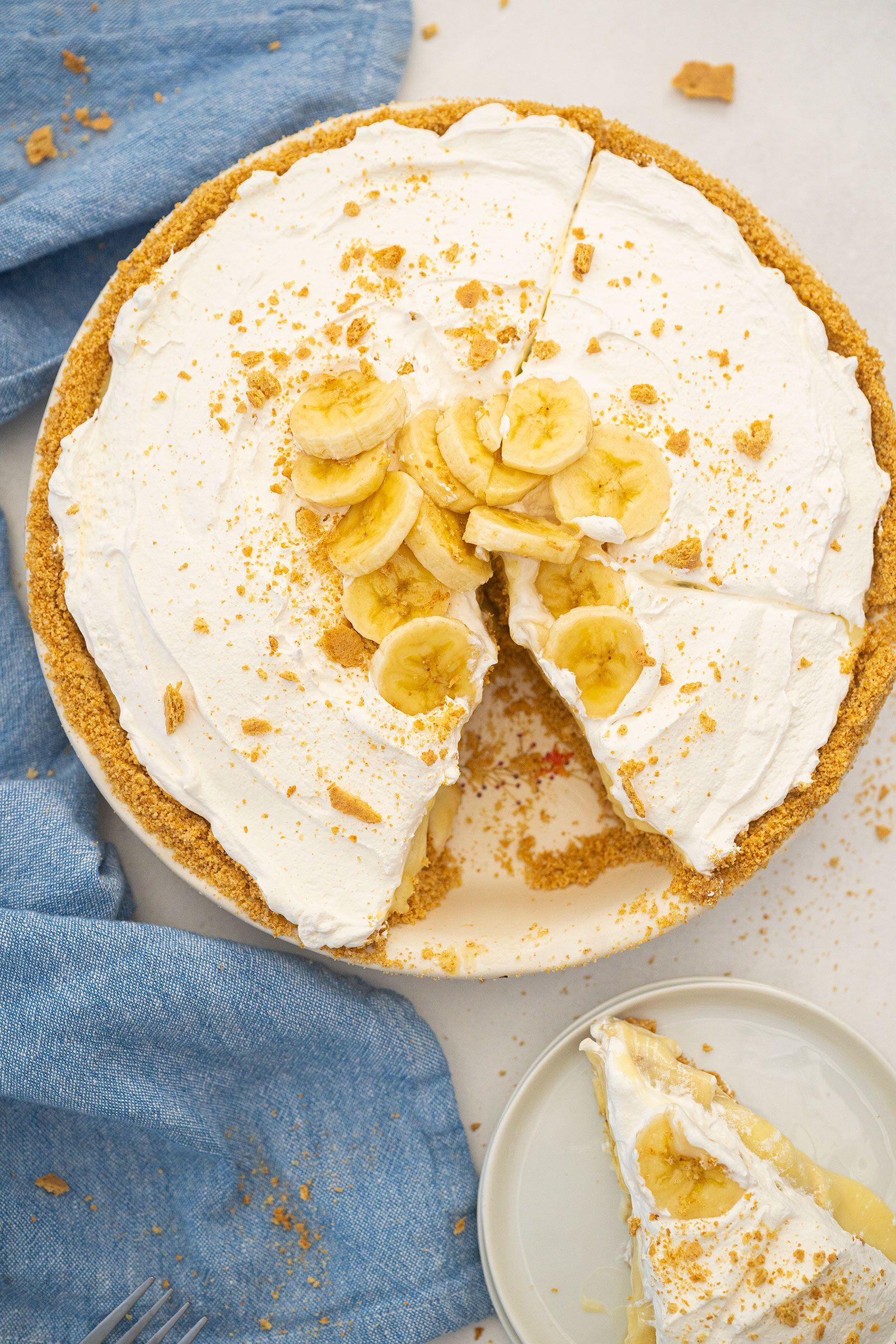 Banana Cream Pie The Kitchen Magpie In 2021 Old Fashioned Banana Cream Pie Recipe Banana Cream Pie Banana Cream Pie Recipe