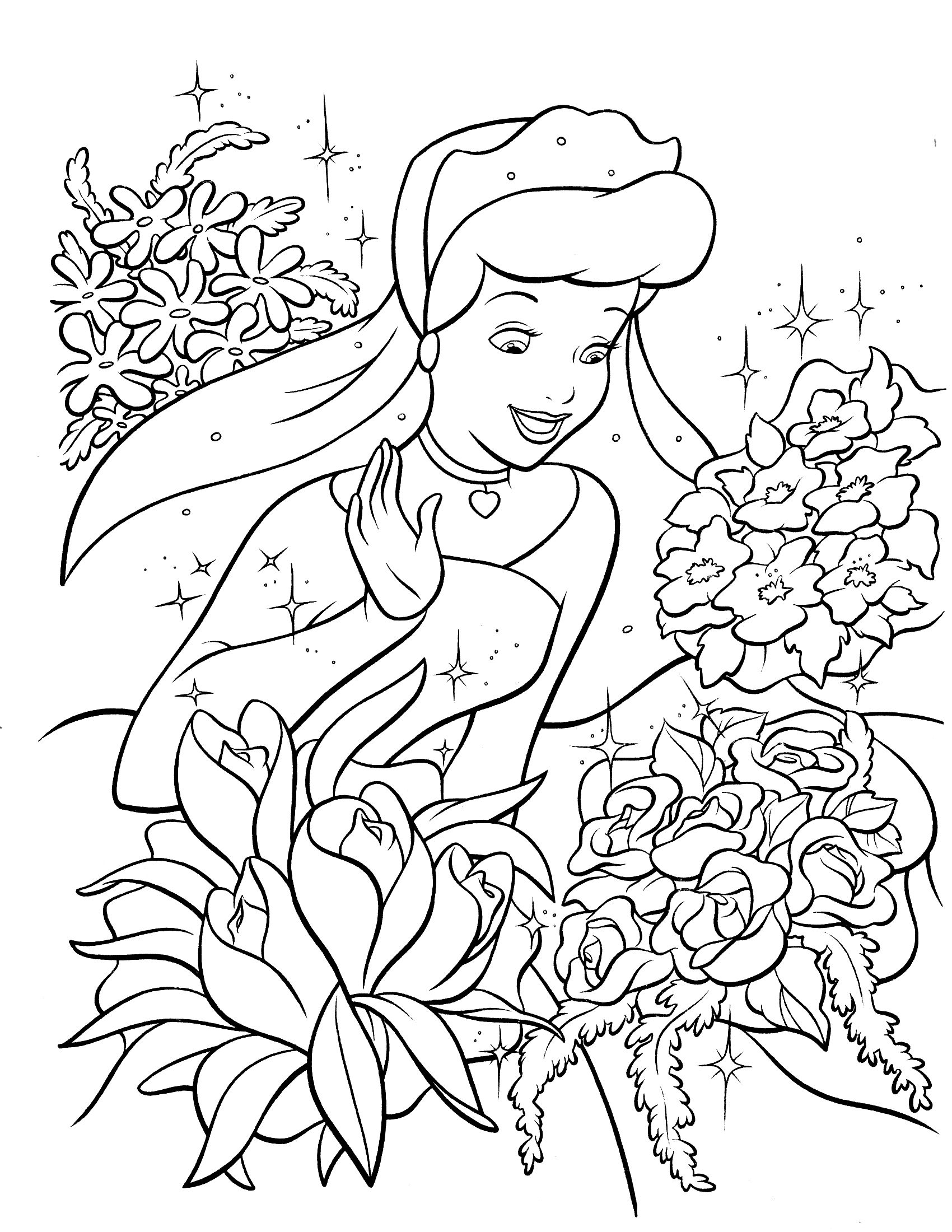 cinderella coloring page | Things to color in 2018 | Pinterest ...