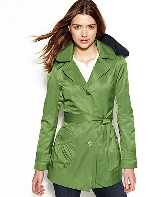 Laundry By Design Hooded Trench Coat Coats Women Macy S Hooded Trench Coat Trench Coat Coat
