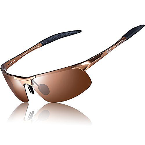 01bfdd995983e ATTCL Men s New Fashion Driving Polarized Sunglasses for Men Unbreakable- metal Frame (Coffee