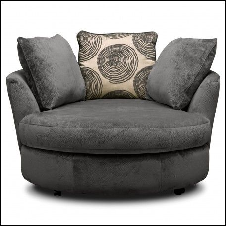 Round Spinning Sofa Chair Lounge Chair Bedroom Grey Swivel