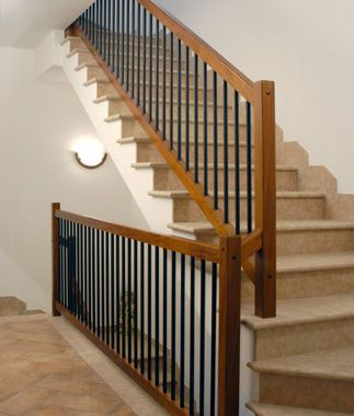 Indoor Railing In Wood Metal Entrance With Bars Zero Scale