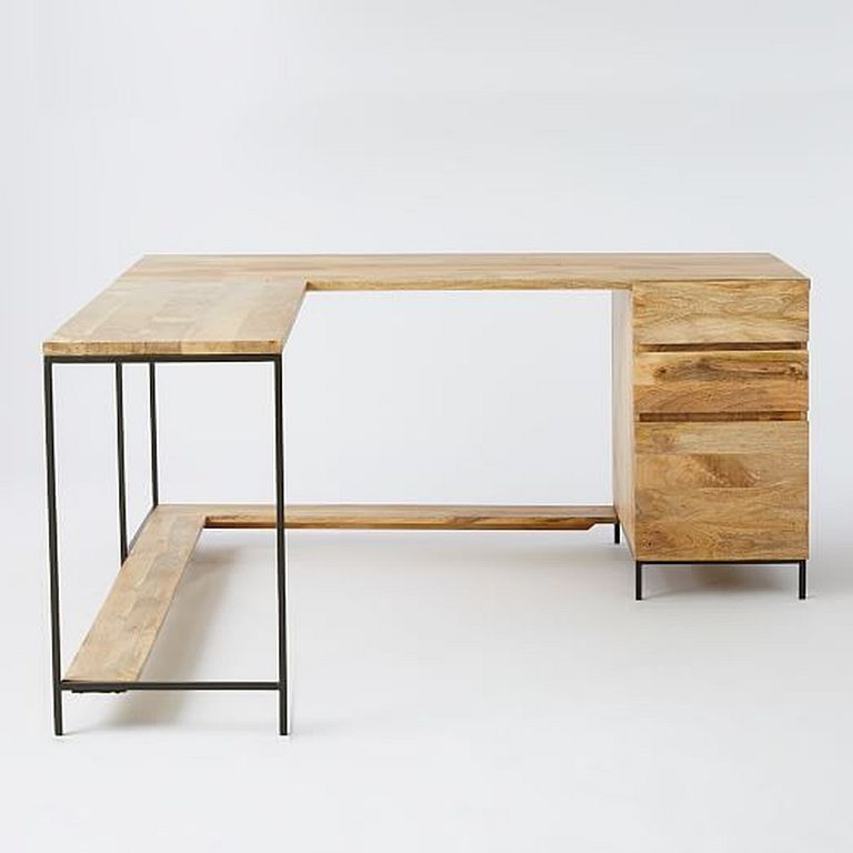 20+ Easy And Cheap DIY Corner Desk Designs With Rustic