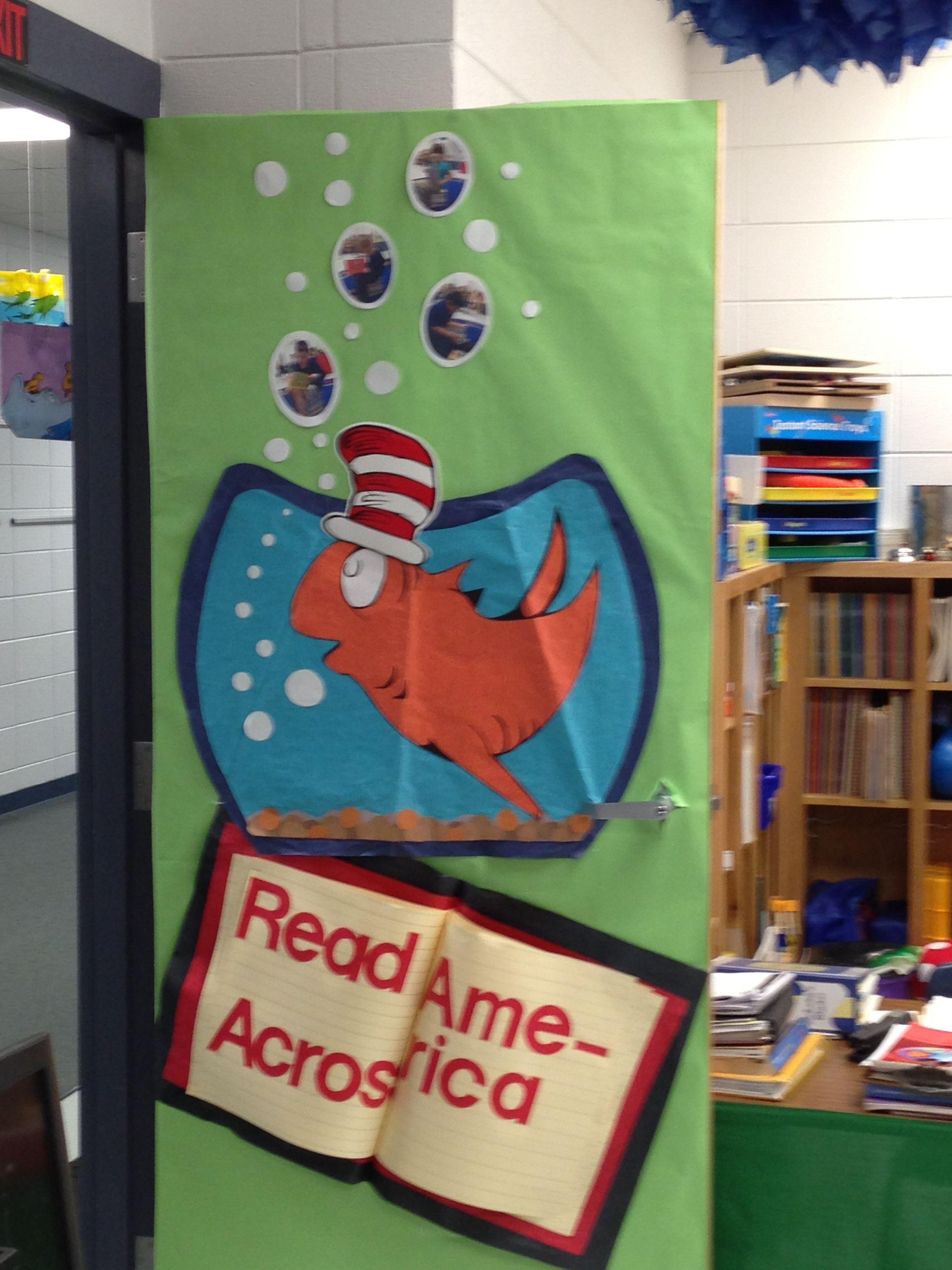 dr seuss classroom door for read across america
