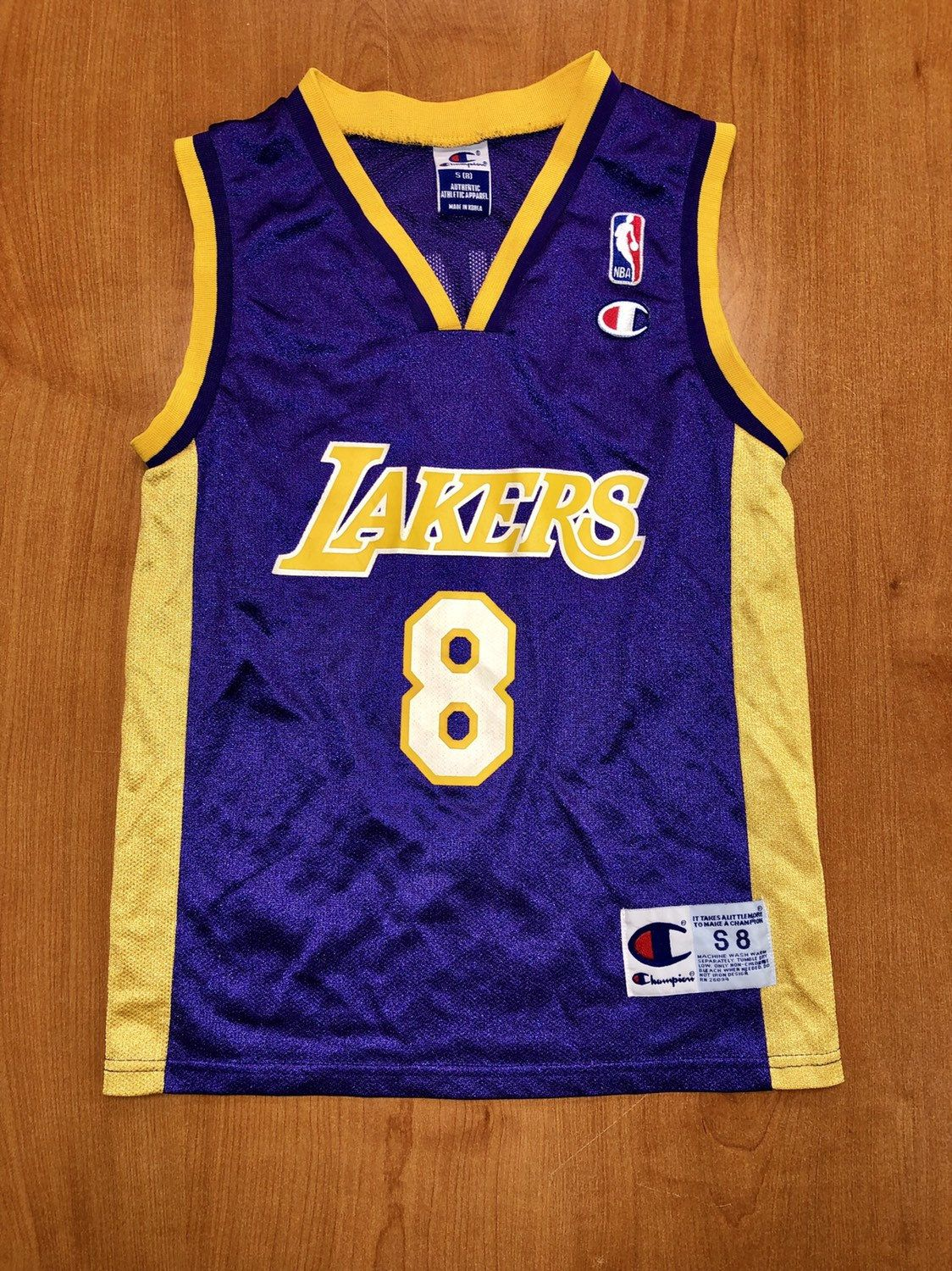 b5e36ae1cbb Vintage 1999 Kobe Bryant LA Los Angeles Lakers Champion Jersey Size Youth  Small shaquille o'neal magic johnson nba finals kids lower merion by ...