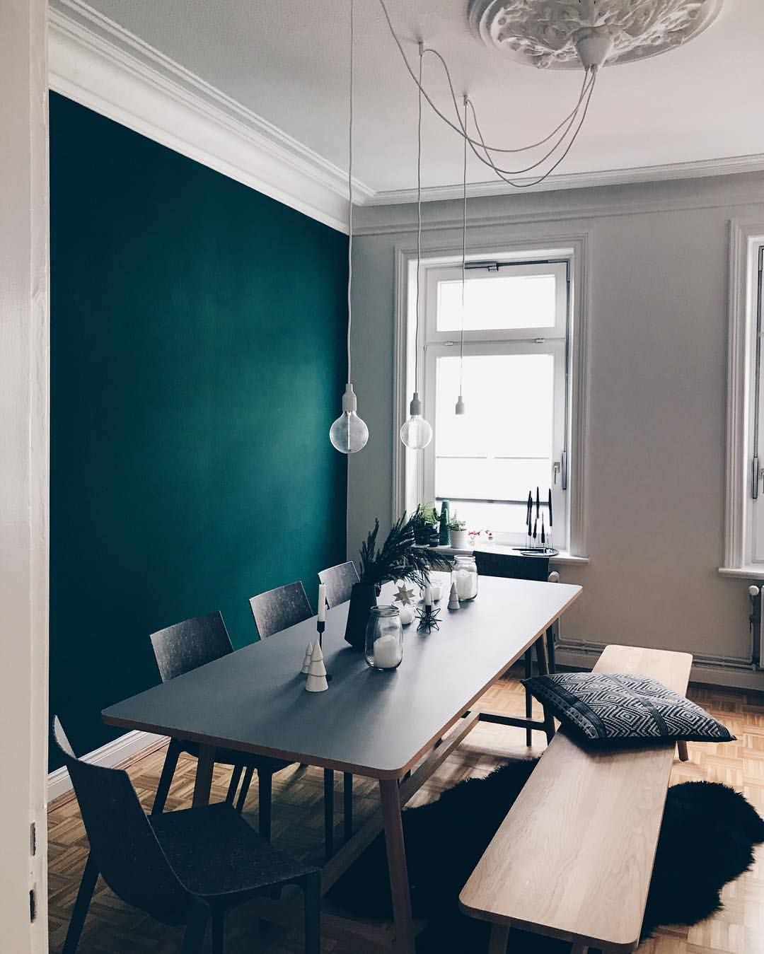 Love the color of this wall together with light from windows home interior decor paint dining room also abstract art colorful woman portrait print digital rh pinterest