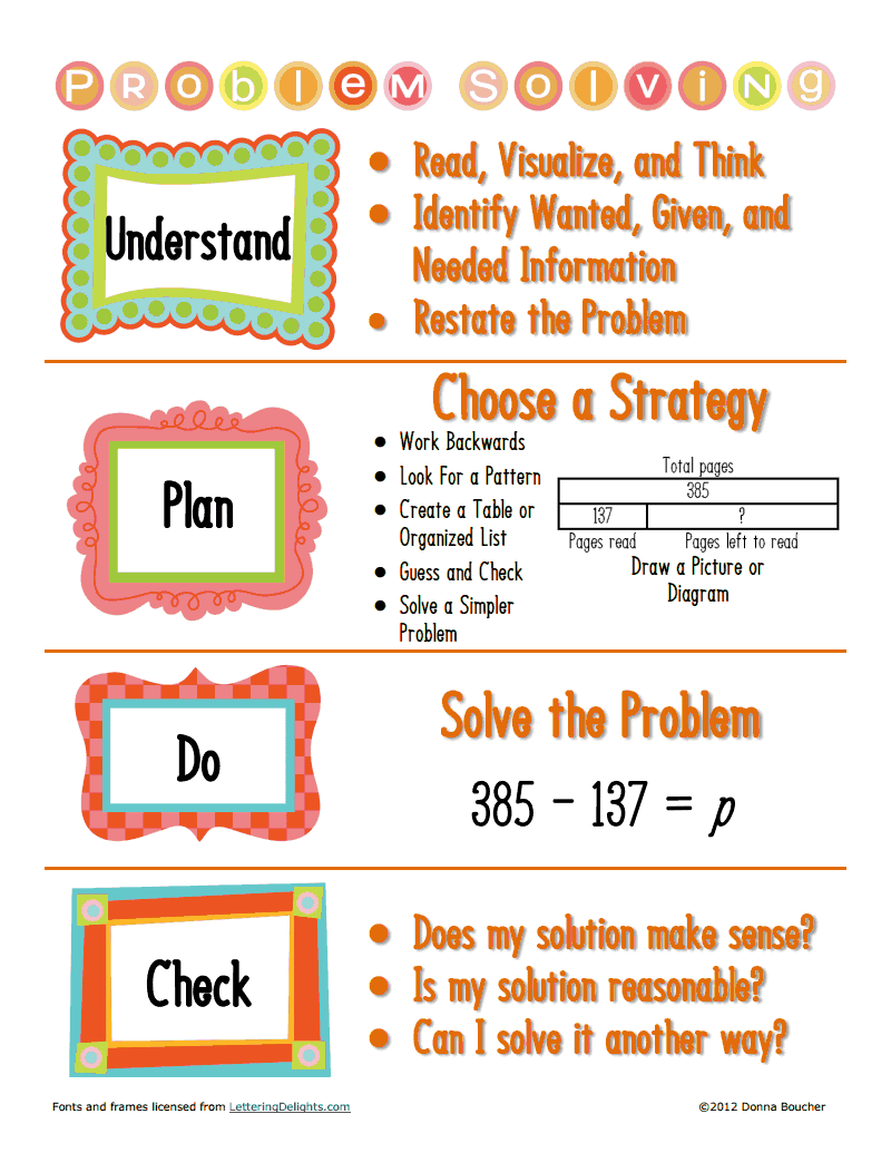 problem solving strategies pdf