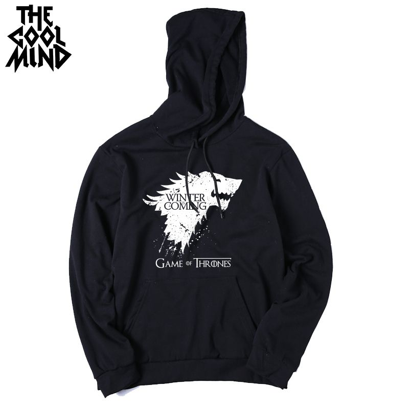 Top Quality Cotton Blend Game Of Thrones Hoodies Casual Winter Is Coming Sweatshirt Mens Hoodies Casual Mens Sweatshirts Hoodies Men