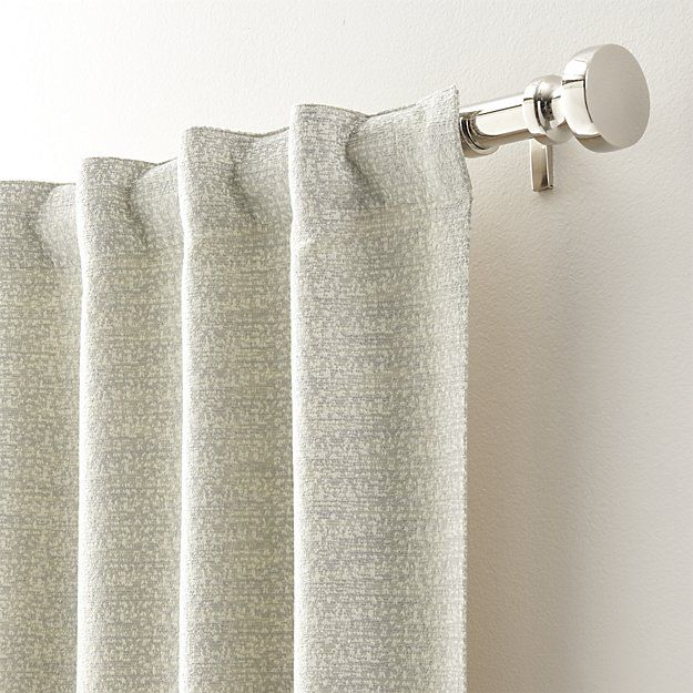 Desmond Silver Cream Curtain Panels Crate And Barrel In 2020