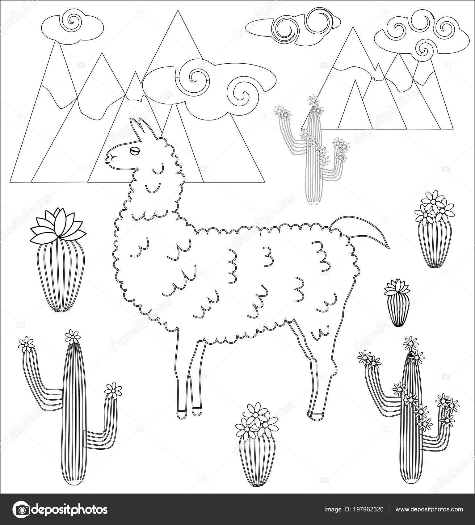 Pagina Para Colorear Dibujos Animados Lama Lama Para Colorear Para