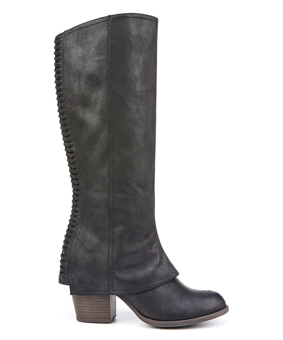 Fashion · Look at this #zulilyfind! FERGALICIOUS BY FERGIE Black Lundry Boot  by FERGALICIOUS BY FERGIE. Knee High Heel BootsTall ...