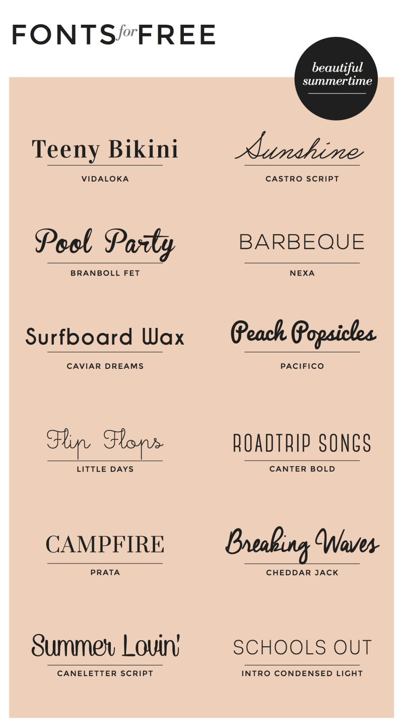 The most amazing script fontsand they are all FREE – Fonts for Invitation Cards
