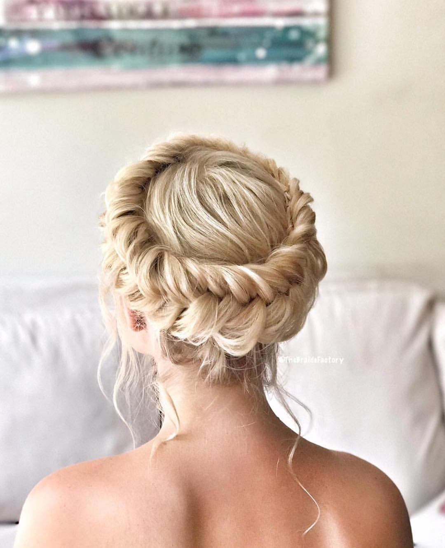 Elegant Dutch Fishtail Crown Braid Hairstyle