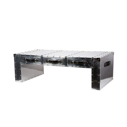This FABULOUS Studded Coffee Table Is Made From Polished Aluminium - Studded coffee table