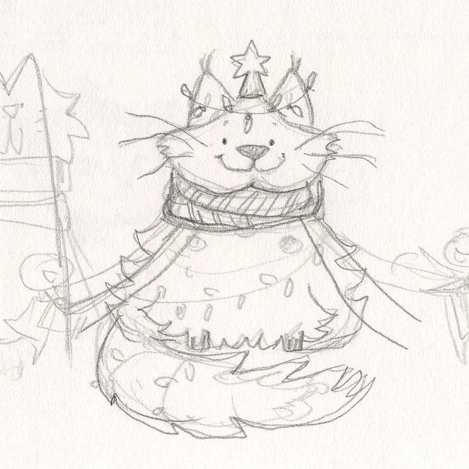Behold my much tamer interpretation of the Icelandic Yule Cat #art ...