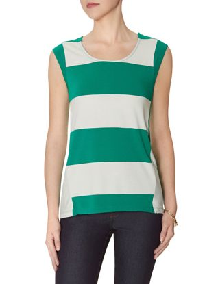 love this mixed striped top from the Limited! features vertical stripes on the back to help you look tall and thinner.