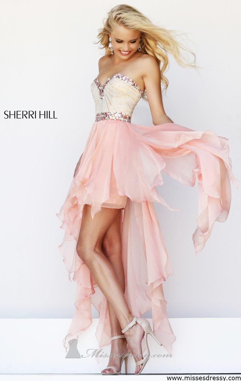 Strapless Hi Lo Gown by Sherri Hill | Baile de graduación ...