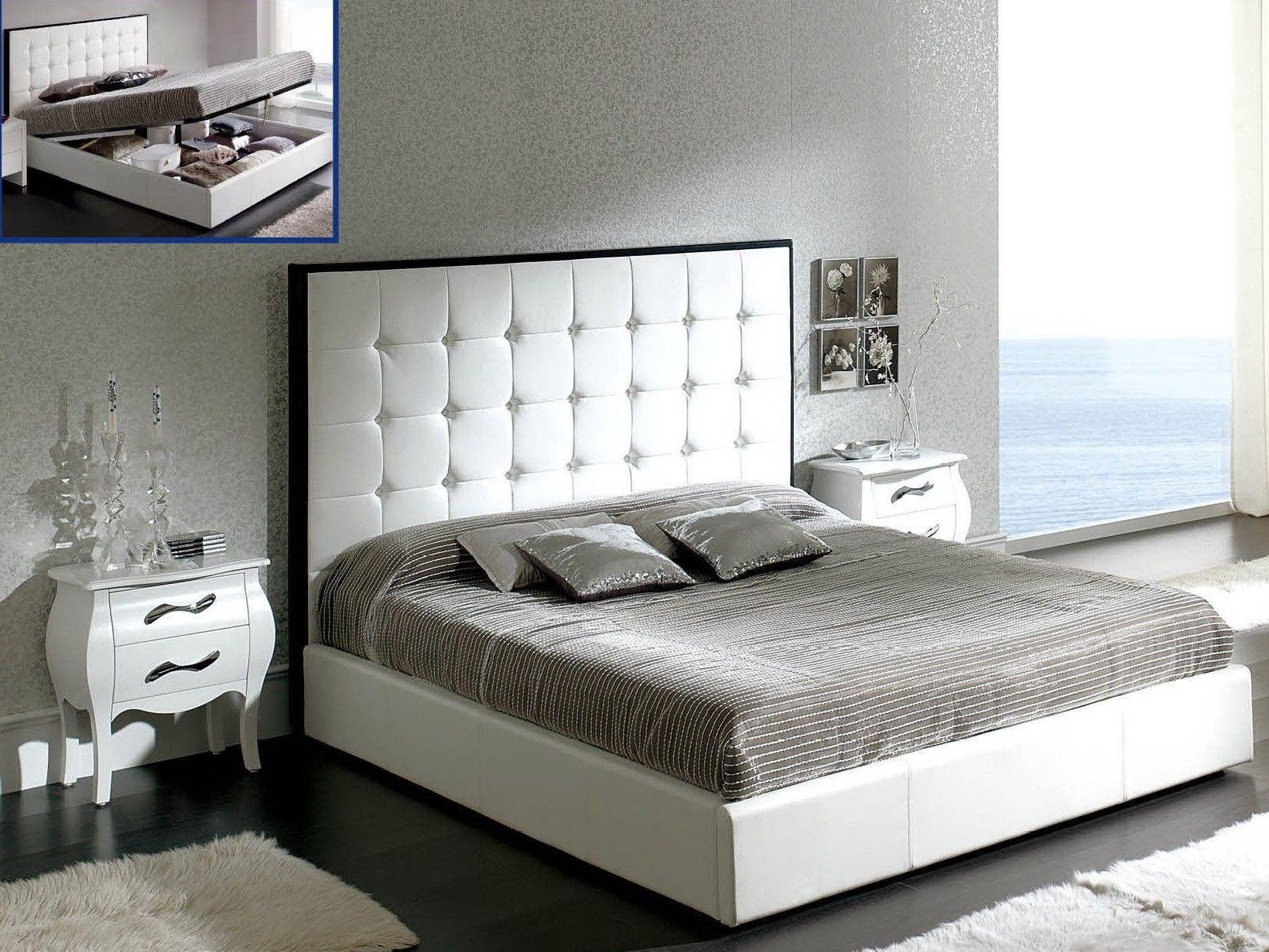cama tapizada con cabecero capitone 3 - cabecero piel polipiel o ...