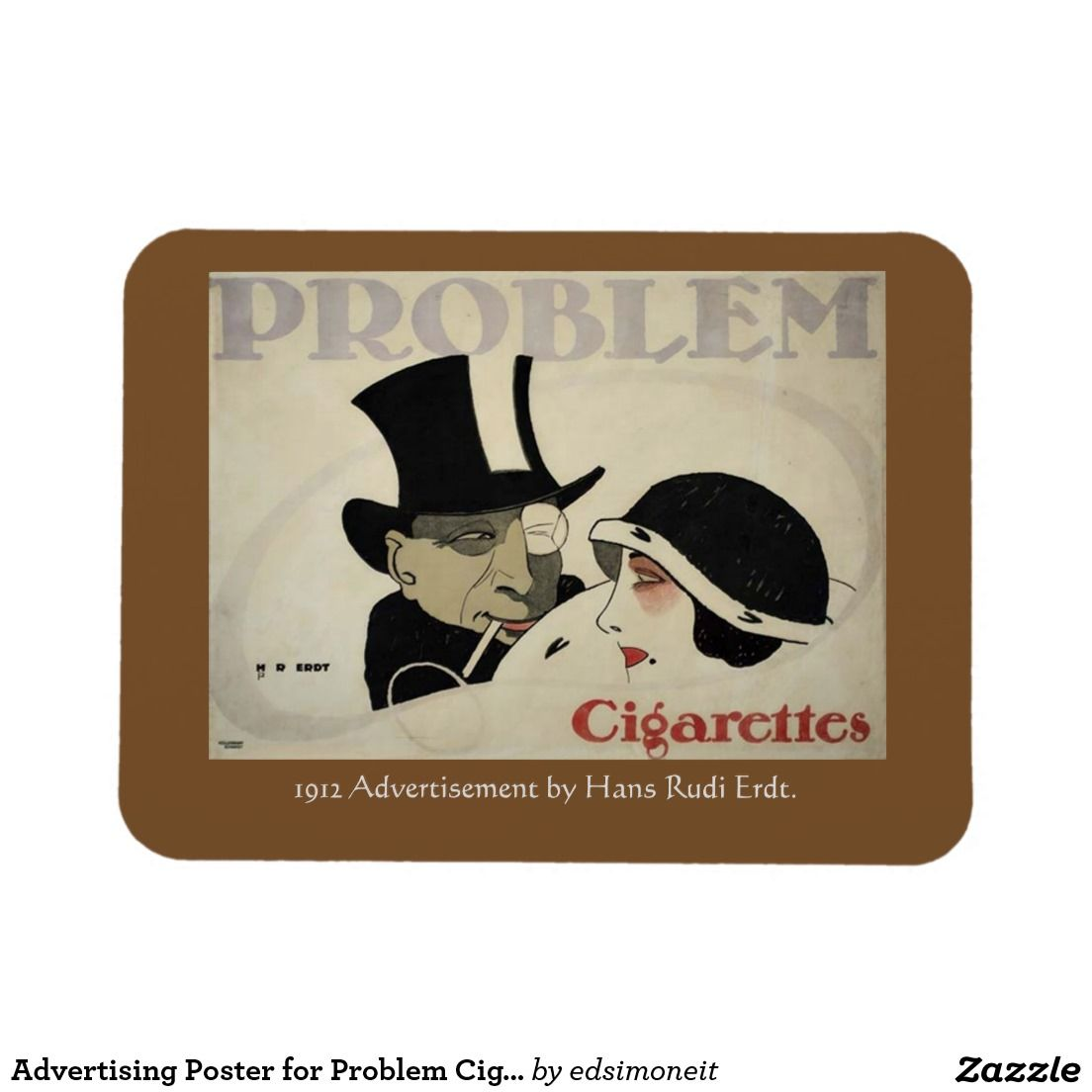 Advertising Poster for Problem Cigarettes 1912 Rectangular Photo Magnet