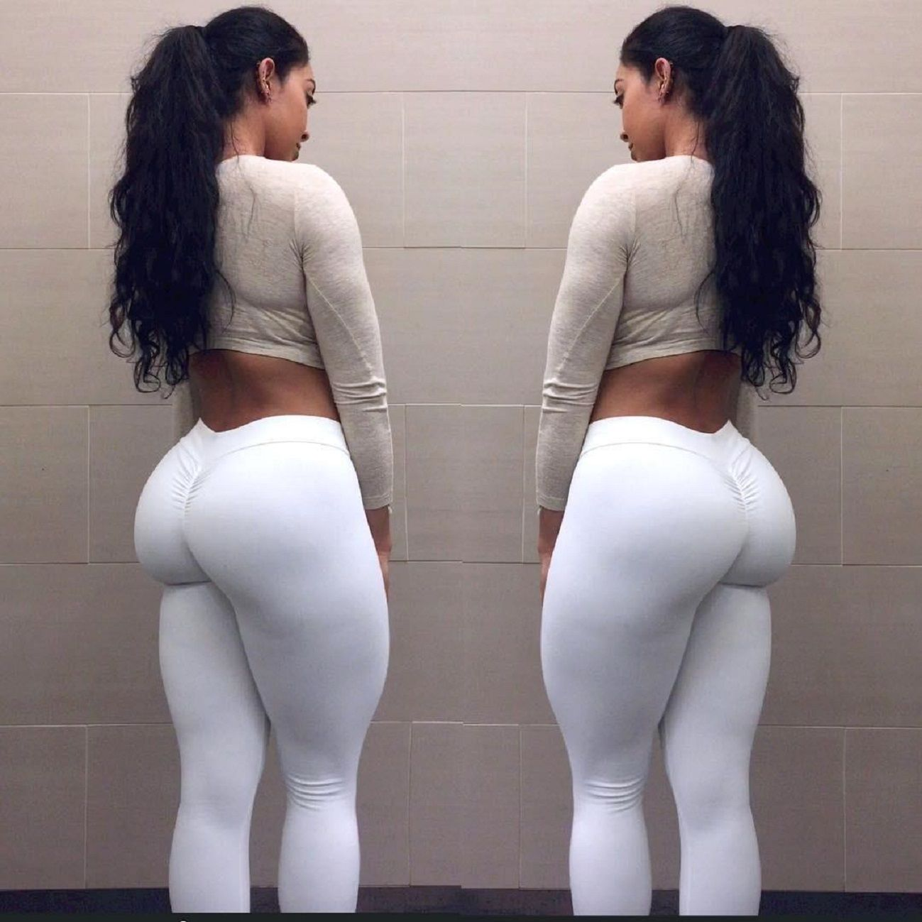 White brunette booty Big