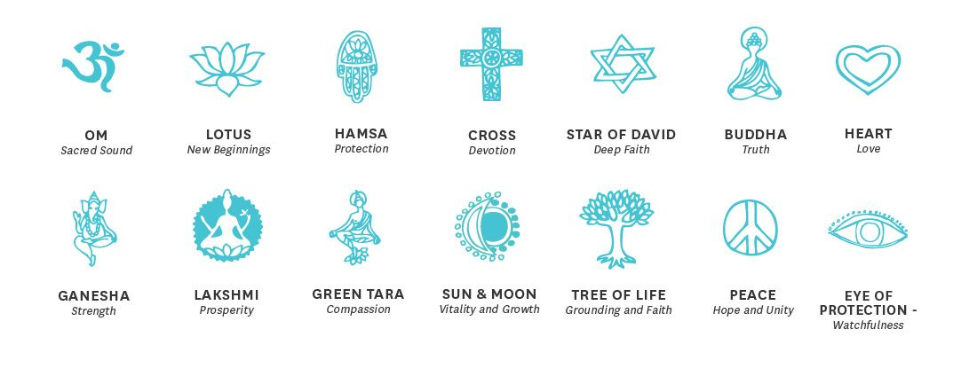 Spiritual Symbol Chart Yoga Symbols And Their Meanings Exercise
