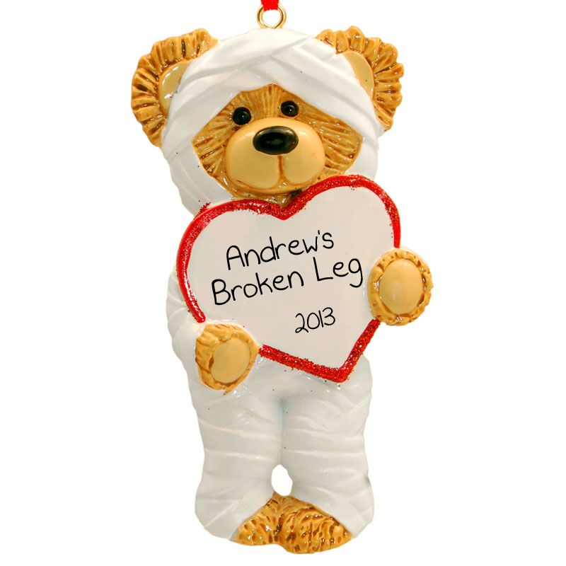 Broken Arm/Broken Leg Ornament Accident Surgery Bear | Ornaments and More - Broken Arm/Broken Leg Ornament Accident Surgery Bear Ornaments And