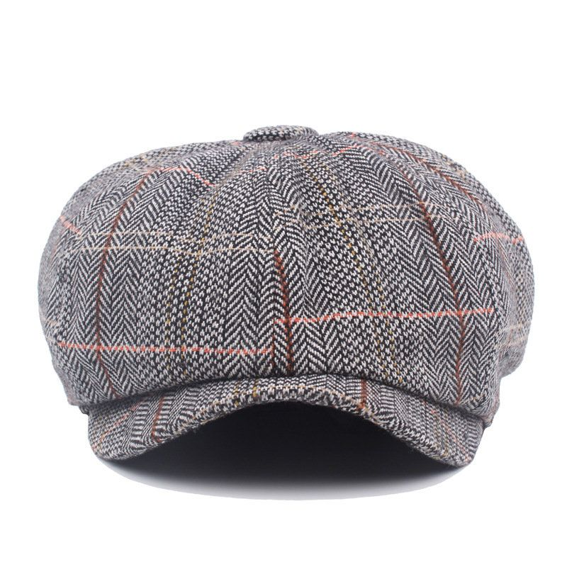 a517492c Mens British Style Gentleman Octagonal Beret Hats Casual Newsboy Painter  Forward Caps