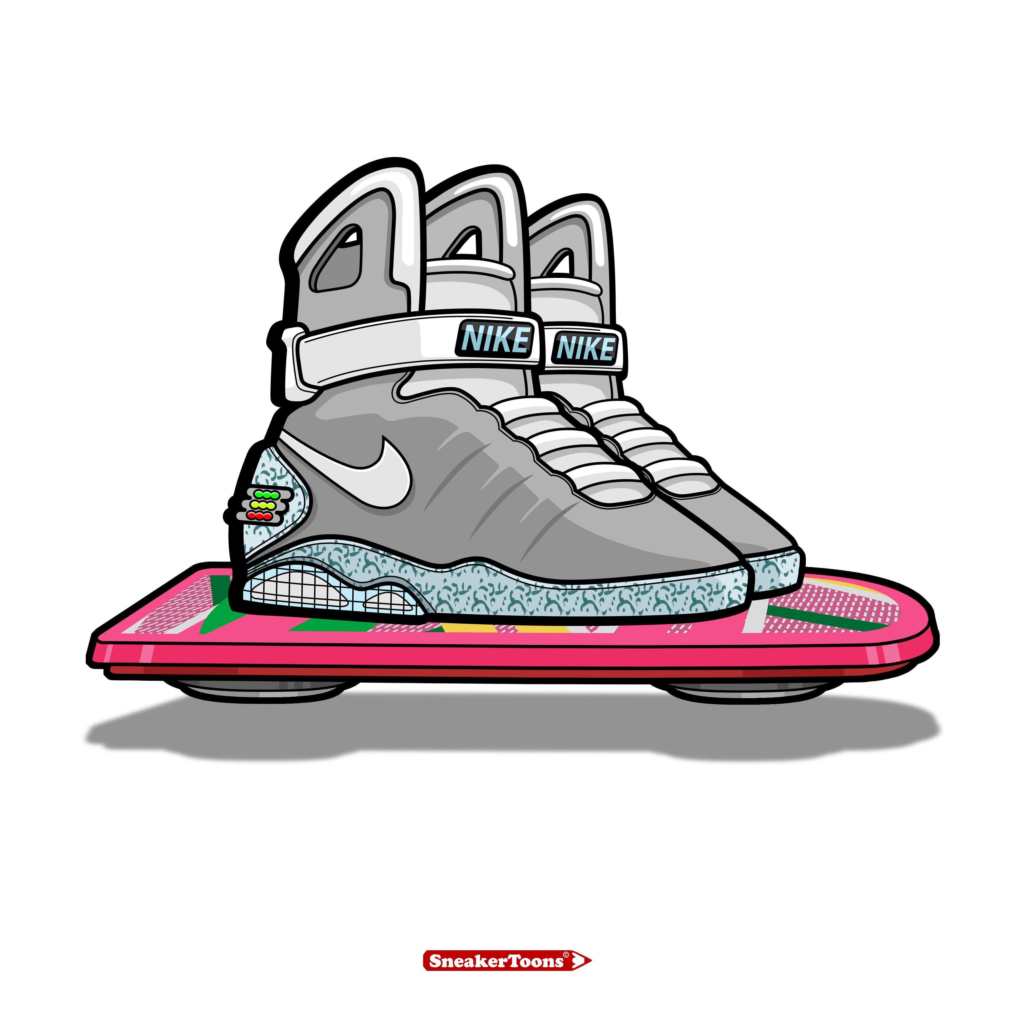 Nike Air Mag by Steven Piantoni / Sneakertoons & Matchkicks (UK)