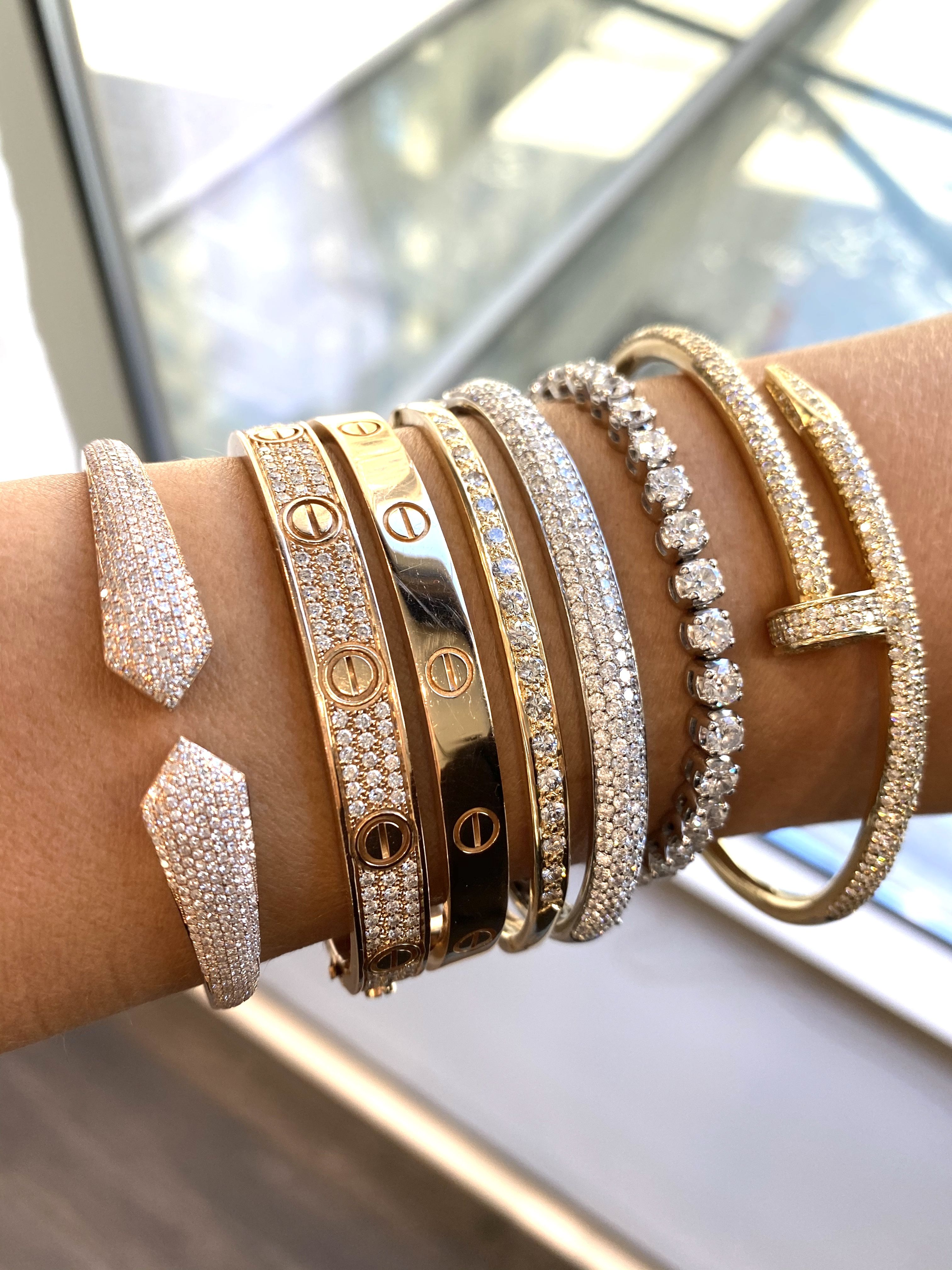 Diamond bracelets for your arm parties! Stylish and fun
