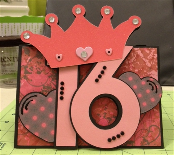 Attractive Sweet 16 Card Making Ideas Part - 7: A Girls 16 Year Birthday Is Special, So I Wanted To Make A Special Card.