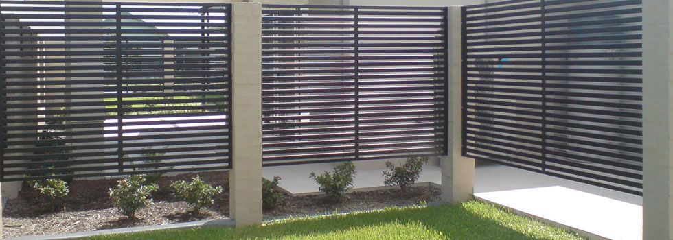 Open Slats Fences Screens In 2019 Metal Fence Gates