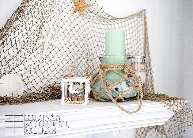 06_summer-beach-mantel-decorating-ideas | Coastal Decor | Pinterest ...