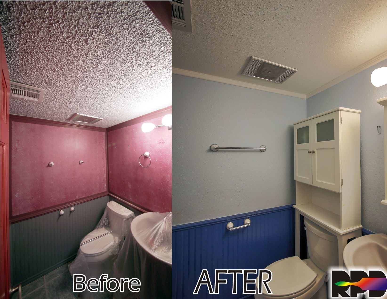 Small Bathroom Ceiling Paint : Modernized and refreshed small bathroom by removing