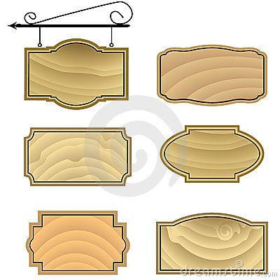 wood sign patterns | Hanging Wood Sign Shapes Stock Images - Image ...