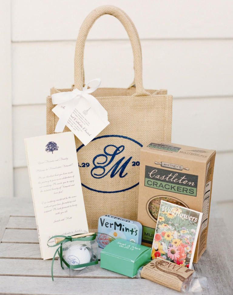 Our Favorite Wedding Welcome Bag Ideas Wedding Gift Bags Wedding Guest Bags Wedding Welcome Baskets